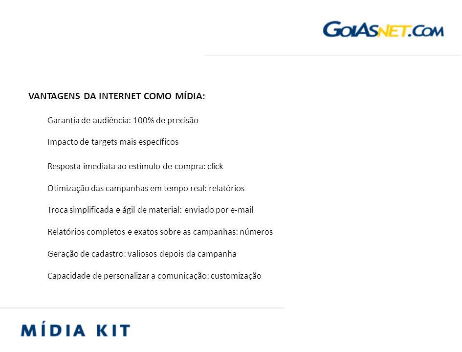 Home Page A página inicial do Goiasnet oferece ao internauta as principais matérias e serviços inseridos no portal.