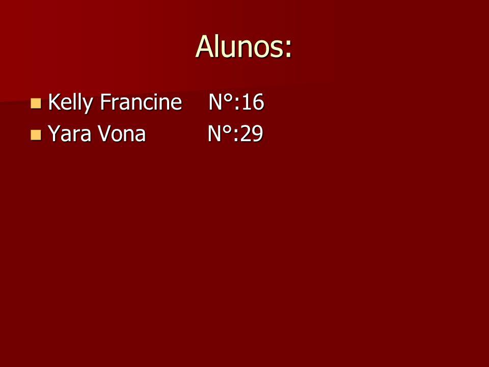Alunos: Kelly Francine N°:16 Kelly Francine N°:16 Yara Vona N°:29 Yara Vona N°:29
