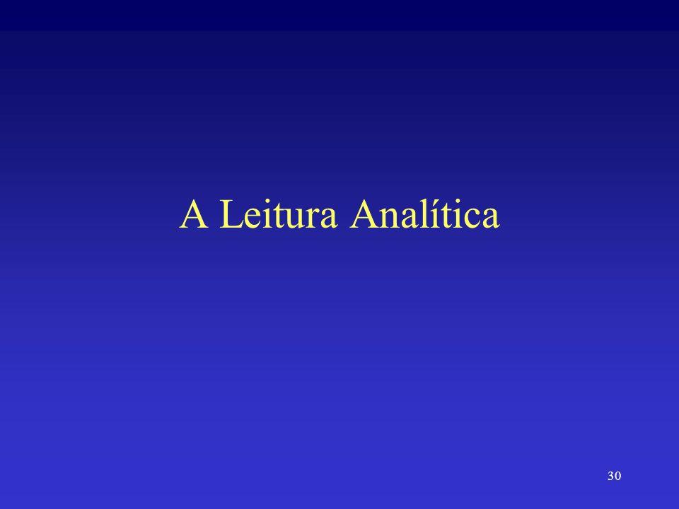 30 A Leitura Analítica