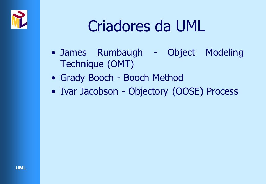 UML Diagramas de Implantação Os diagramas de implantação são usados para modelar o ambiente em que o o sistema será executado São compostos por nós e associações(relacionamentos de comunicação) Um nó pode ser, por exemplo, um computador, uma rede, um disco rígido, um sensor, etc.