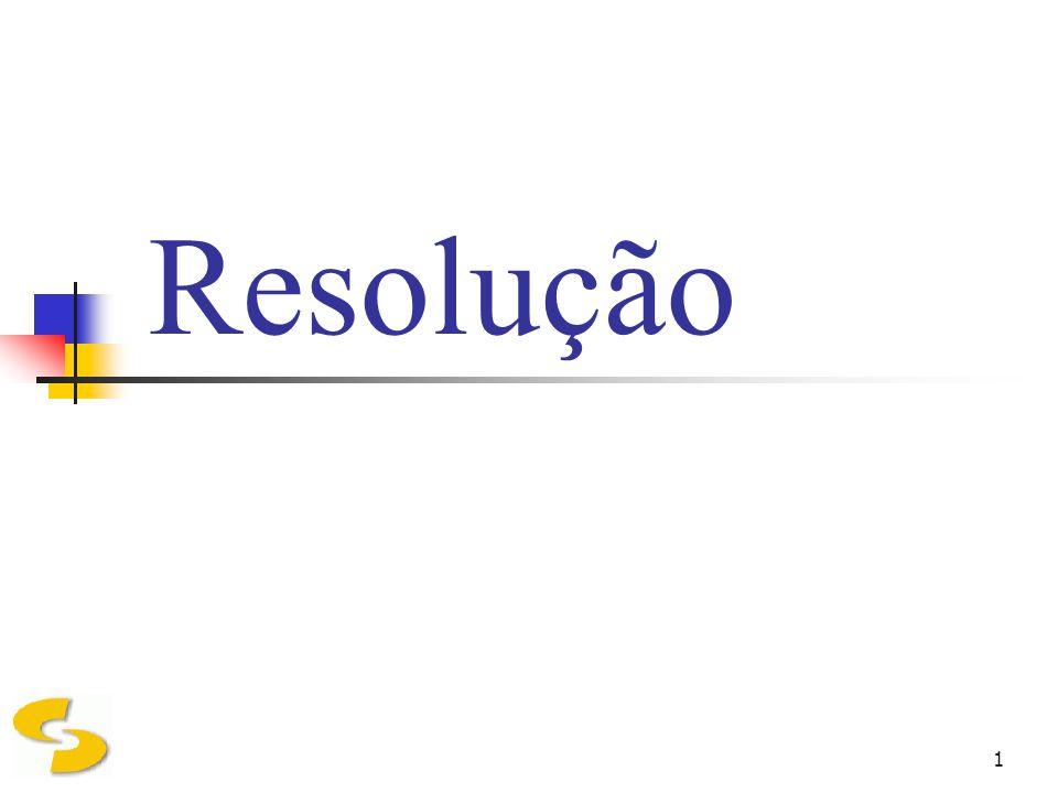 1 Resolução
