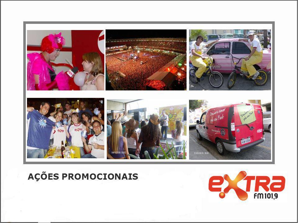 INTERATIVIDADES A Extra FM oferece a mais tecnológica plataforma de comunicação do Rádio Mineiro.
