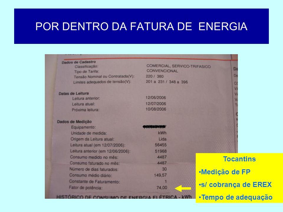 POR DENTRO DA FATURA DE ENERGIA Tocantins