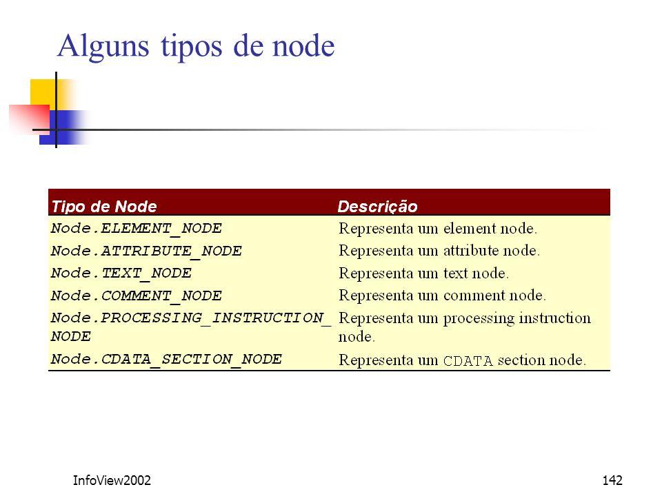 InfoView2002142 Alguns tipos de node