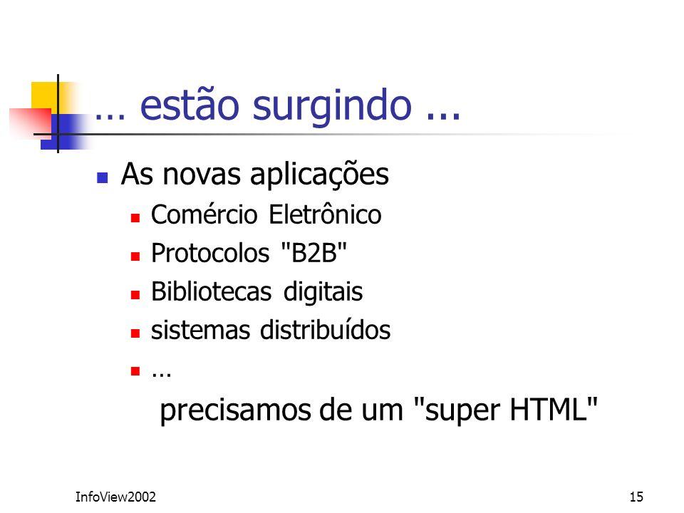InfoView200215 As novas aplicações Comércio Eletrônico Protocolos