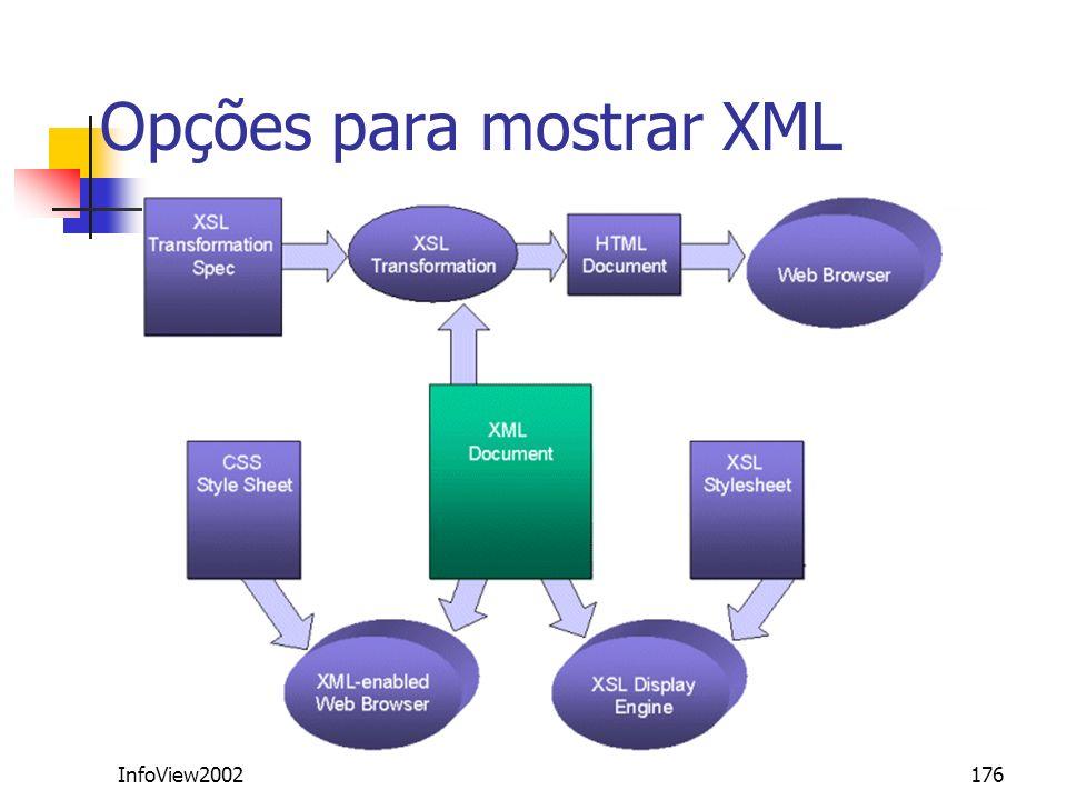 InfoView2002176 Opções para mostrar XML