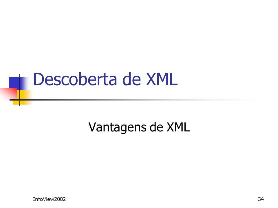 InfoView200234 Descoberta de XML Vantagens de XML