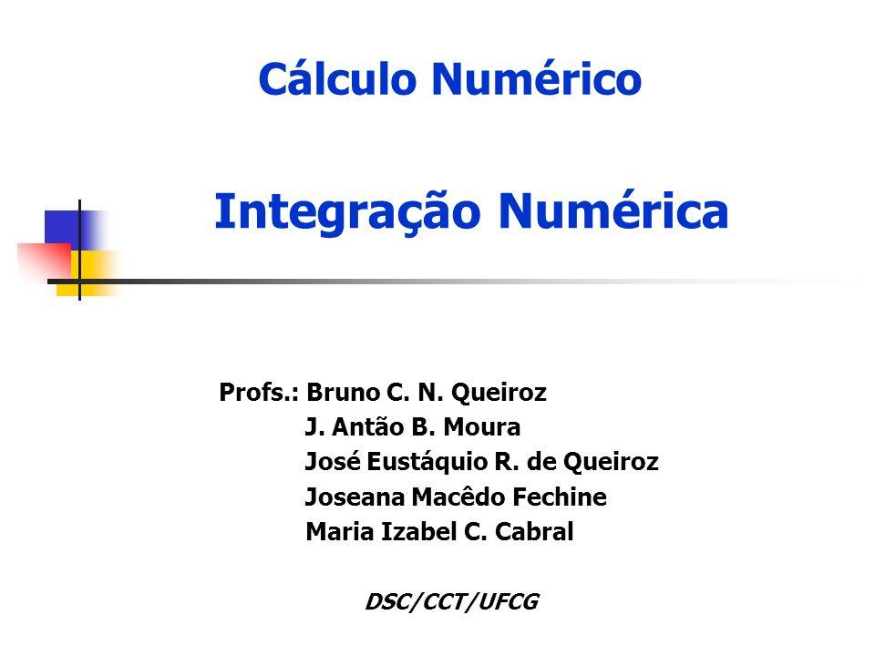Cálculo Numérico Profs.: Bruno C. N. Queiroz J. Antão B.