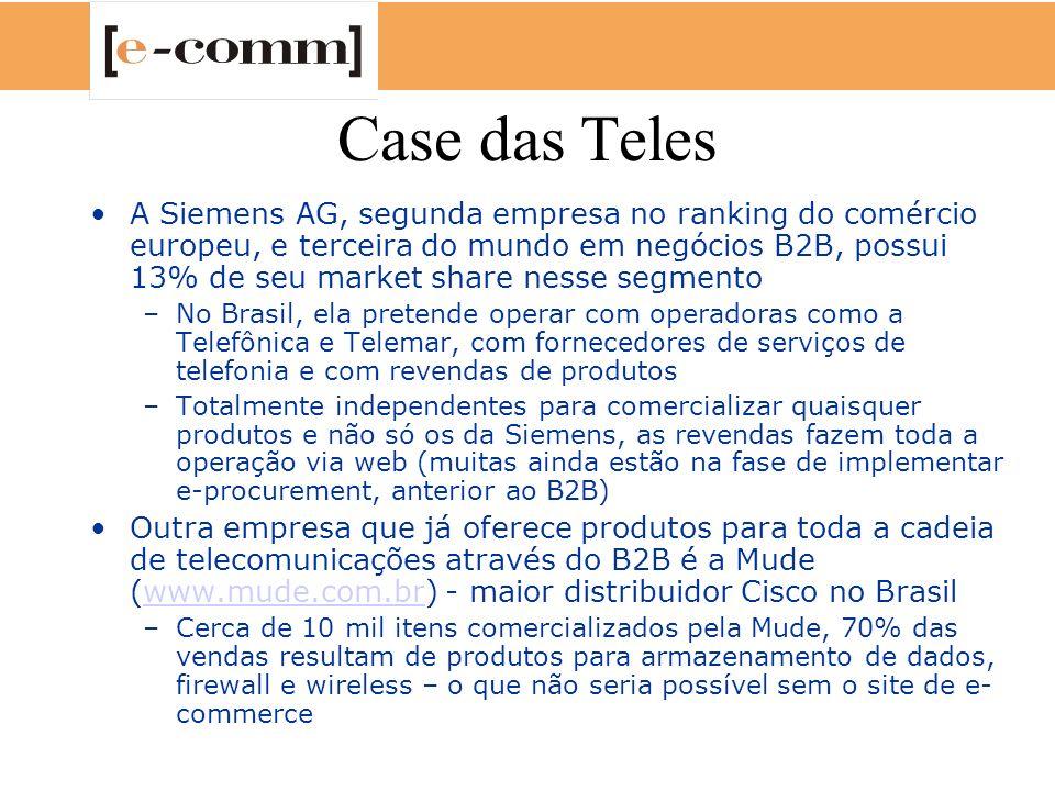 Case das Teles A Siemens AG, segunda empresa no ranking do comércio europeu, e terceira do mundo em negócios B2B, possui 13% de seu market share nesse