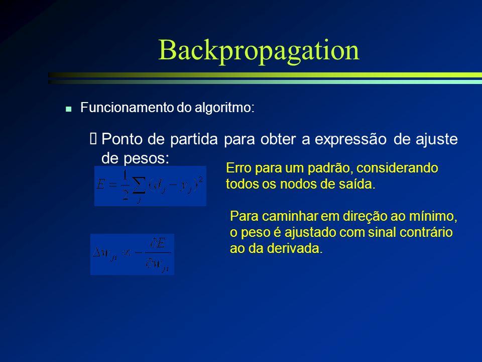20/2/2014Redes Neurais - Teresa Ludermir - CIn - UFPE43 Backpropagation l Função de ativação n Não linear n Diferenciável, contínua e, geralmente, não
