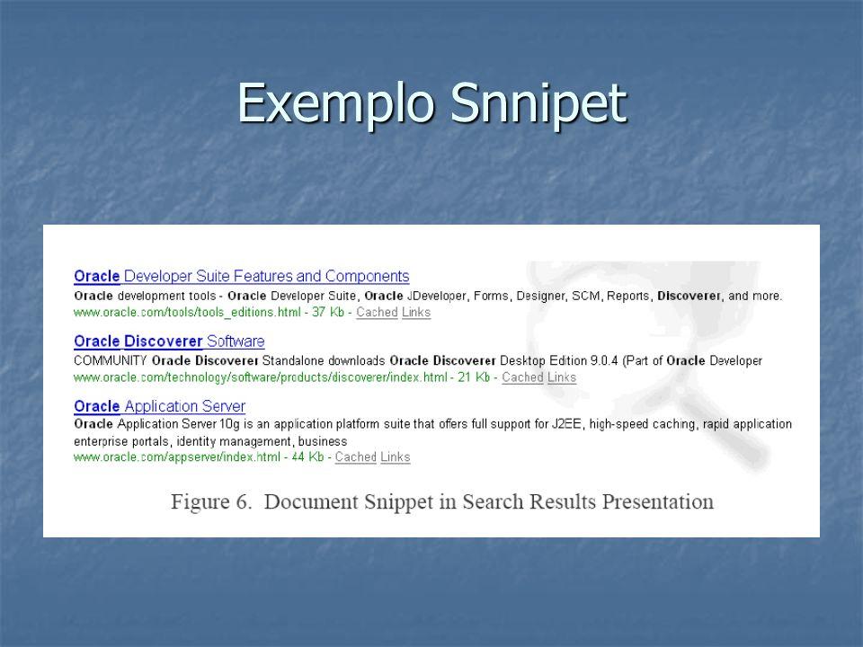Exemplo Snnipet