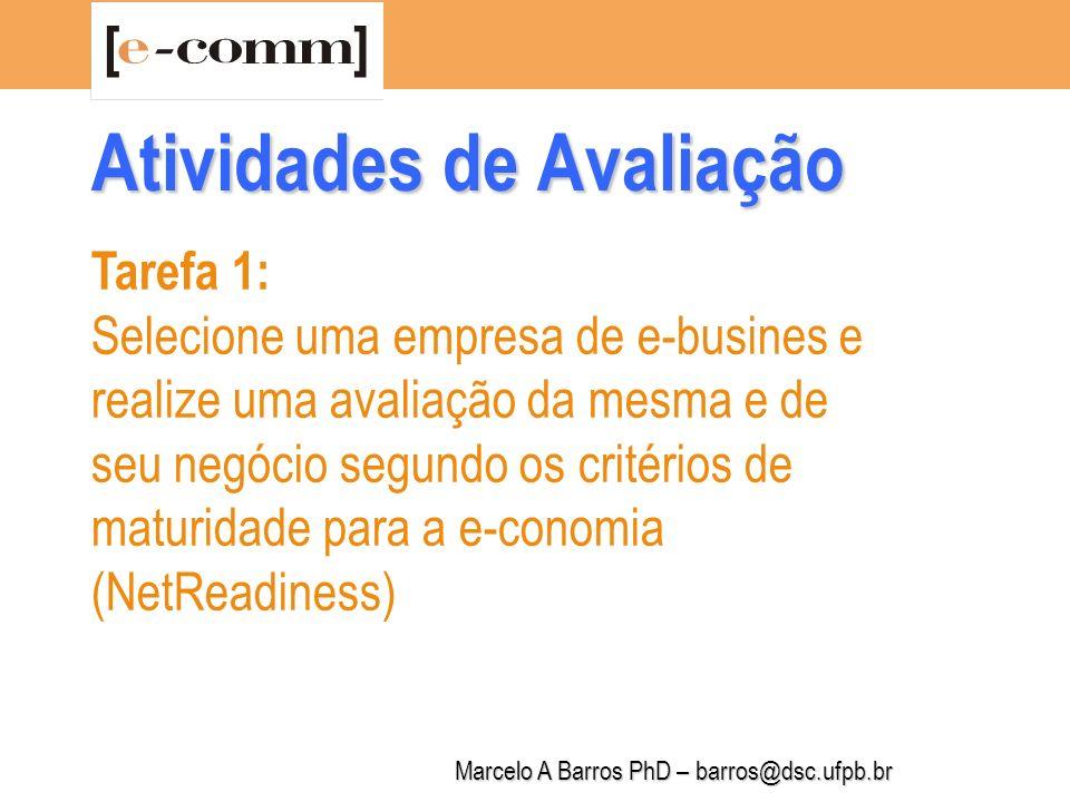 Marcelo A Barros PhD – barros@dsc.ufpb.br Tarefa 2: Identifique, com uma descrição sobre o essencial, os possíveis mercados usuários (clientes) de seus atributos de empreendedor, de seus recursos e competência e de sua inovação (produto e/ou serviço ou processo na internet).