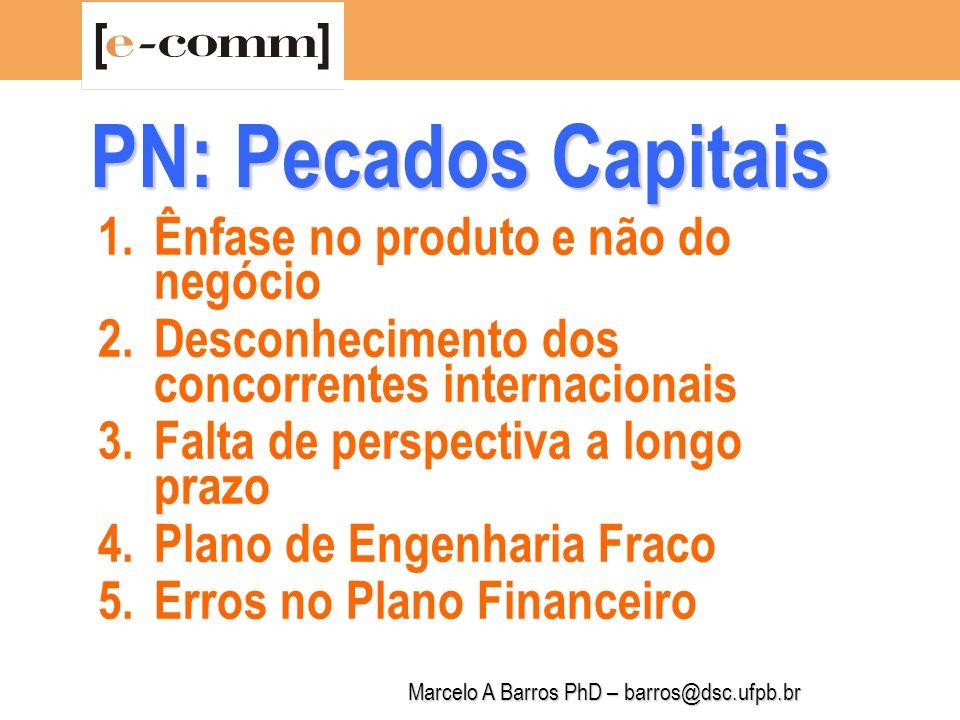 Marcelo A Barros PhD – barros@dsc.ufpb.br PN Simplificado Resumo Executivo A Empresa Plano de Marketing Plano Financeiro Apresentação/Venda