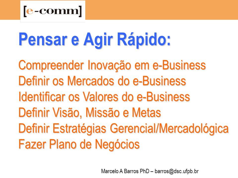 Marcelo A Barros PhD – barros@dsc.ufpb.br Sumário: 1.O Motor da Inovação em e-Business 2.NetReadiness 3.