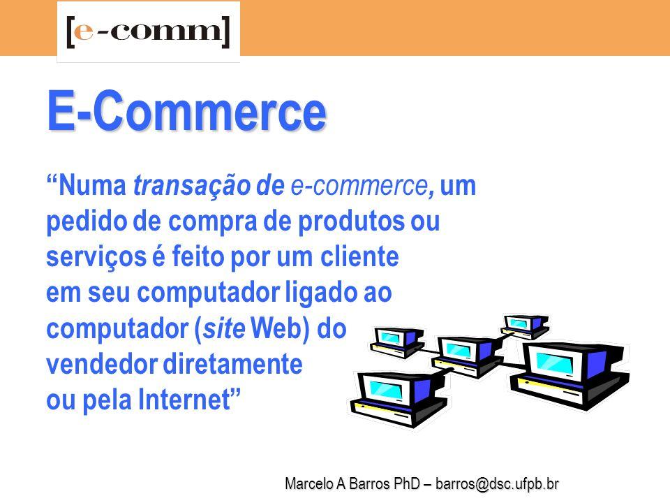 Marcelo A Barros PhD – barros@dsc.ufpb.br E-Commerce 1.