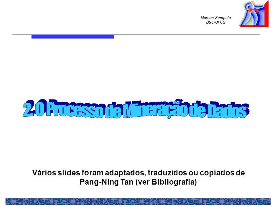 Marcus Sampaio DSC/UFCG Vários slides foram adaptados, traduzidos ou copiados de Pang-Ning Tan (ver Bibliografia)