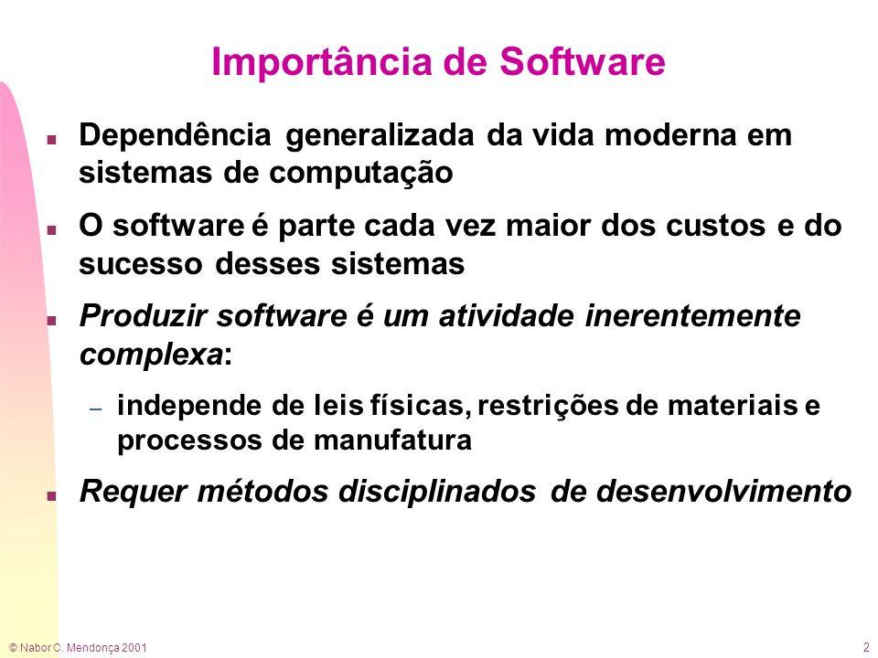 © Nabor C.Mendonça 2001 3 O que é Software.