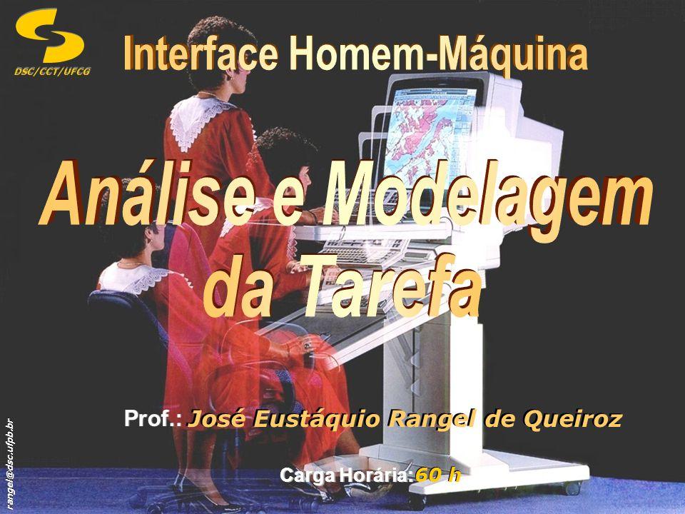 rangel@dsc.ufpb.br DSC/CCT/UFCG Prof.: José Eustáquio Rangel de Queiroz Carga Horária: 60 h