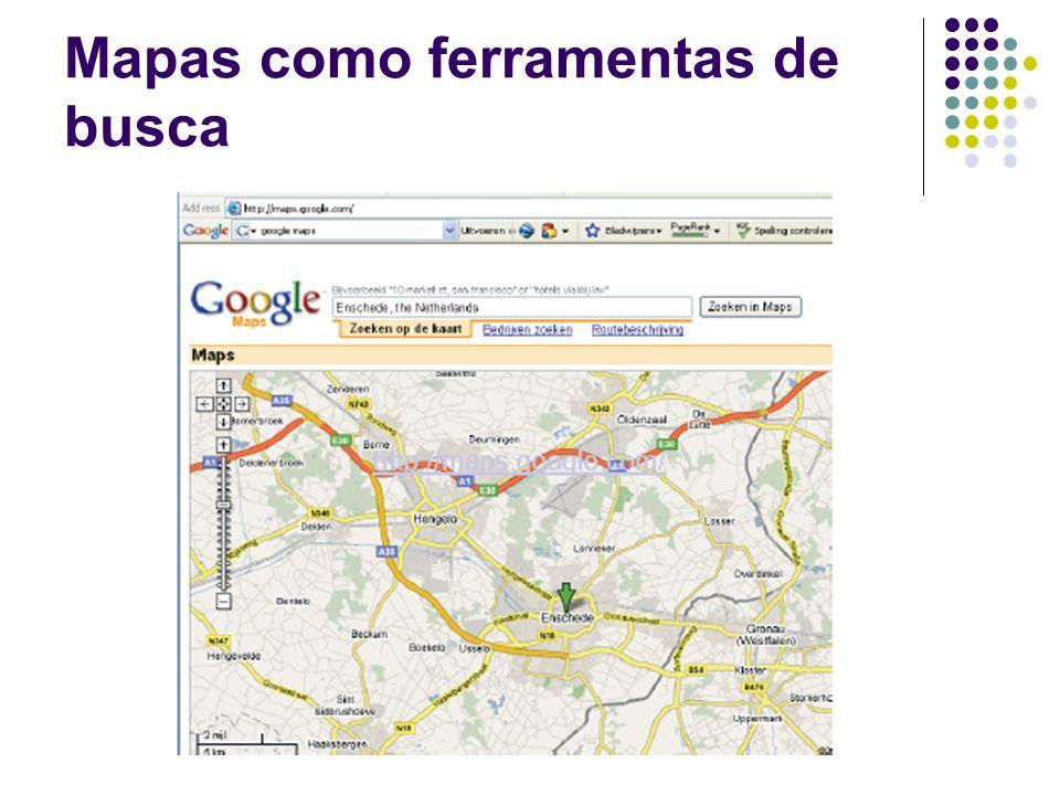 Mapas como ferramentas de busca