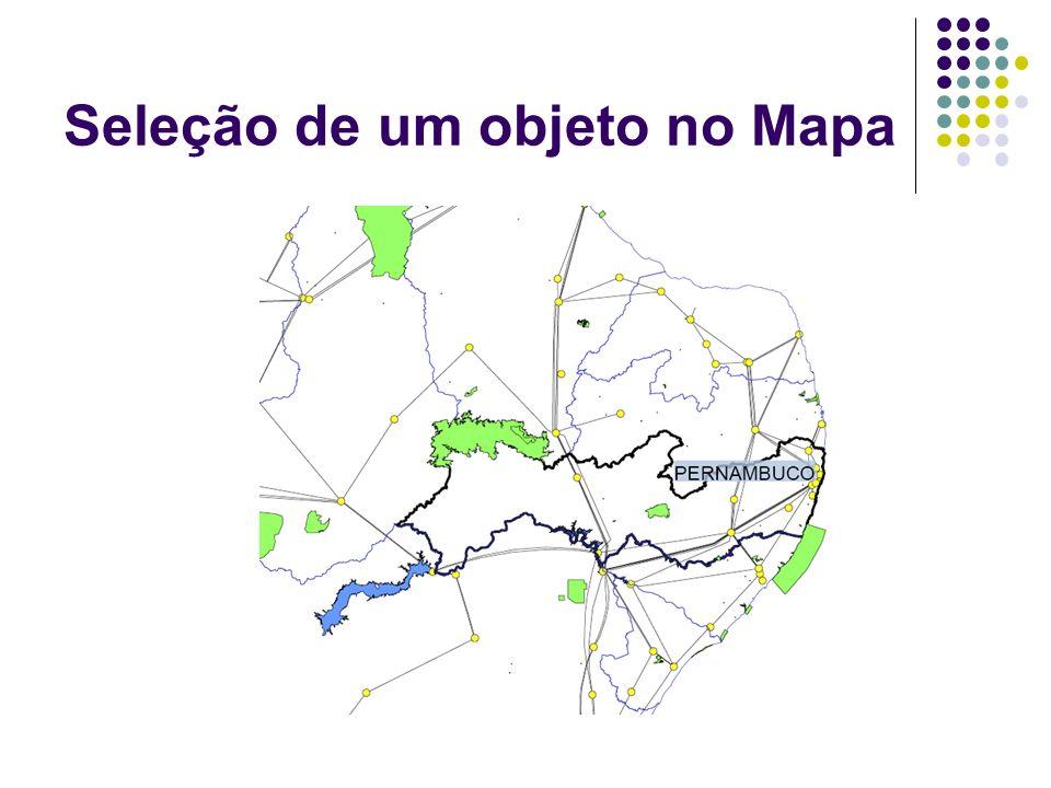 Seleção de um objeto no Mapa