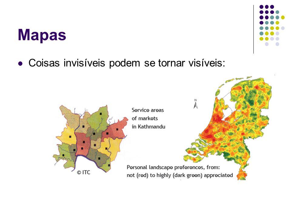Mapas Coisas invisíveis podem se tornar visíveis:
