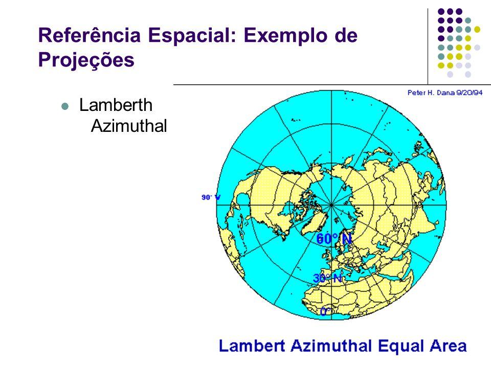 Referência Espacial: Exemplo de Projeções Lamberth Azimuthal