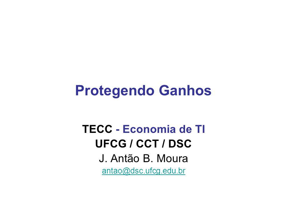 Protegendo Ganhos TECC - Economia de TI UFCG / CCT / DSC J. Antão B. Moura antao@dsc.ufcg.edu.br