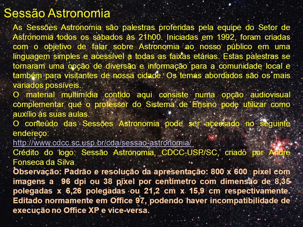 mini-cursos de astronomia Semana marciana, série de palestras Observação de eventos astronômicos Participação na semana nacional de ciência e tecnologia