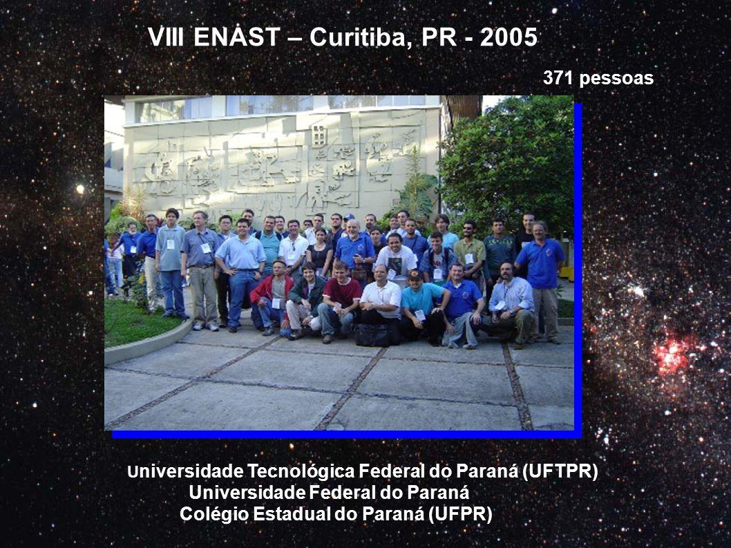 VIII ENAST – Curitiba, PR - 2005 U niversidade Tecnológica Federal do Paraná (UFTPR) Universidade Federal do Paraná Colégio Estadual do Paraná (UFPR)