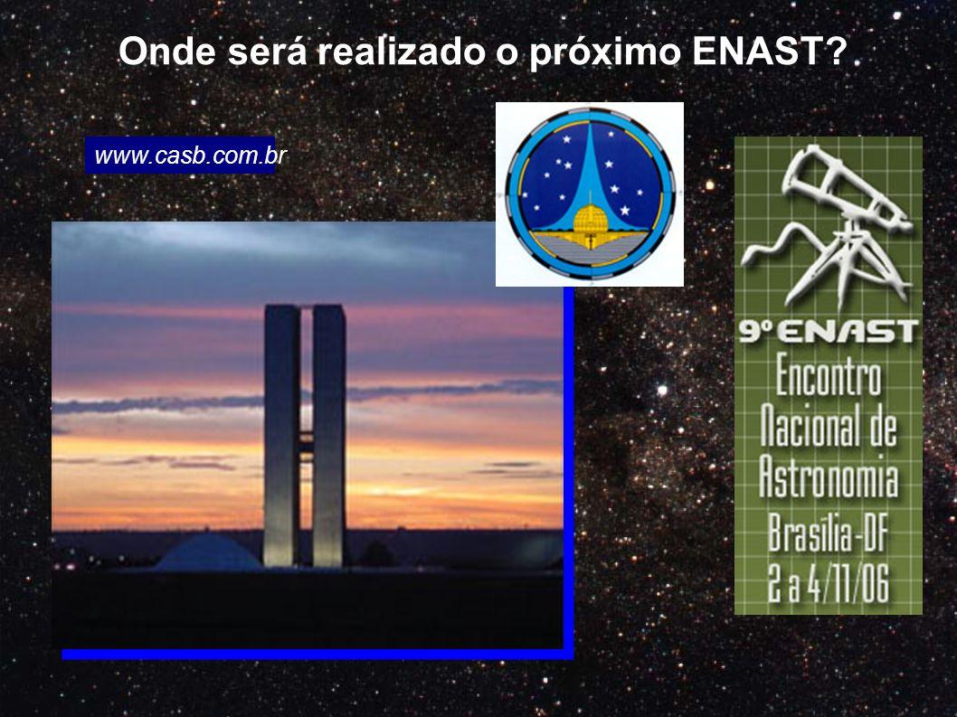 Onde será realizado o próximo ENAST? www.casb.com.br