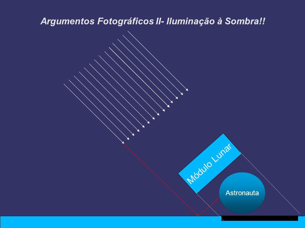 Argumentos Fotográficos II- Iluminação à Sombra!! Astronauta Módulo Lunar Astronauta