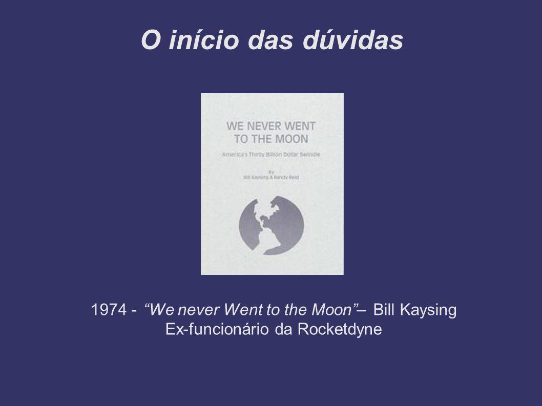O início das dúvidas 1974 - We never Went to the Moon– Bill Kaysing Ex-funcionário da Rocketdyne