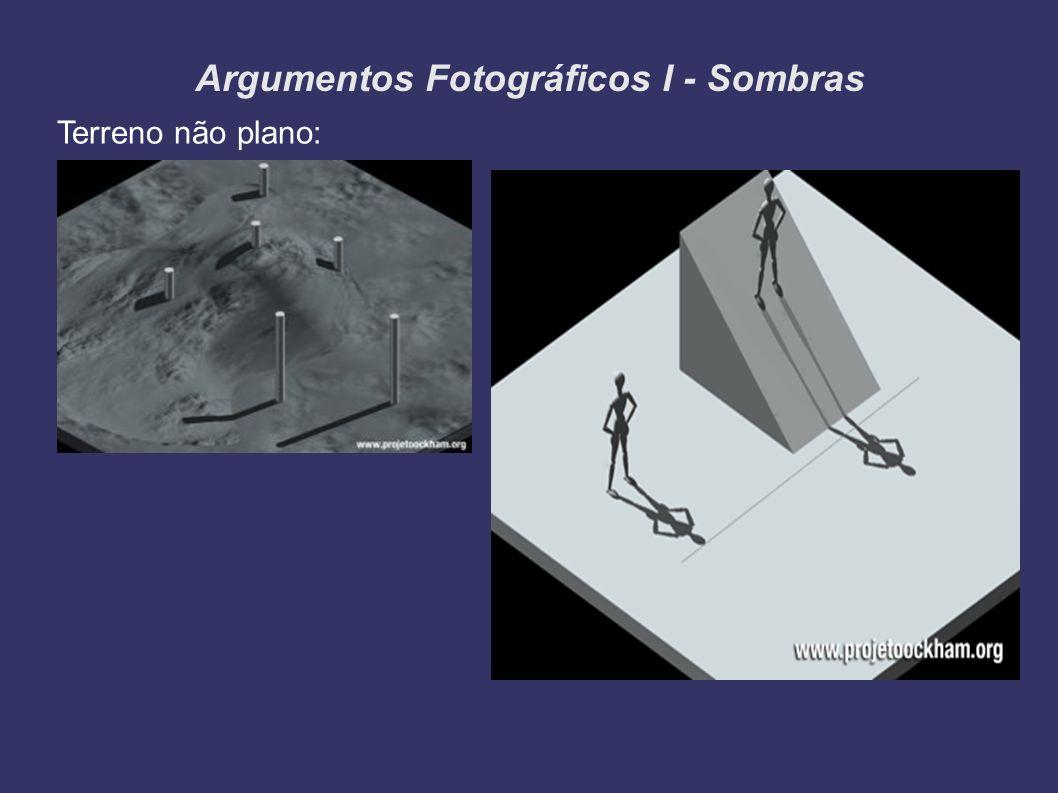 Argumentos Fotográficos I - Sombras Terreno não plano: