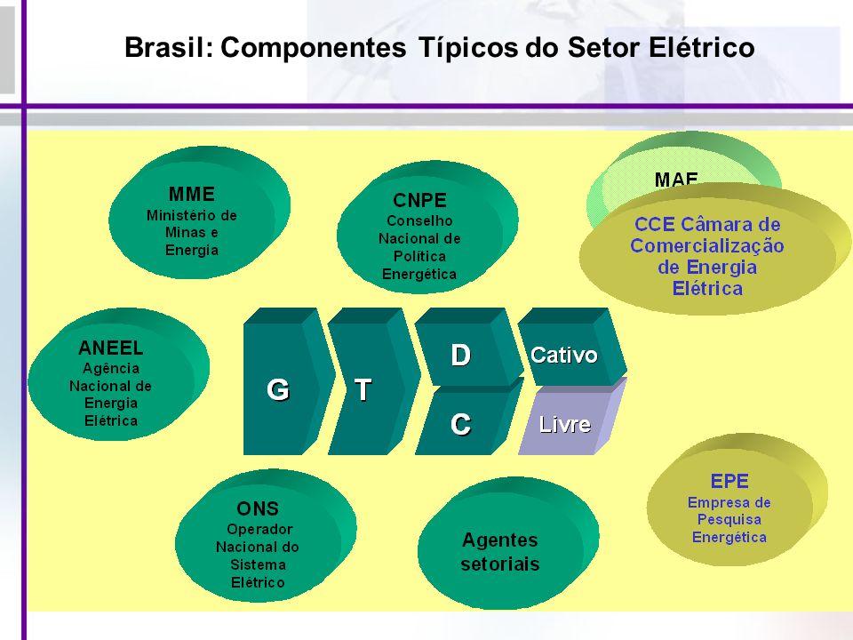 62 Brasil: Componentes Típicos do Setor Elétrico