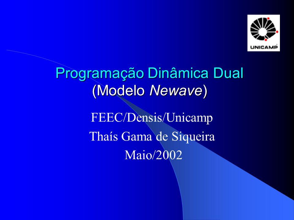 Programação Dinâmica Dual (Modelo Newave) FEEC/Densis/Unicamp Thaís Gama de Siqueira Maio/2002