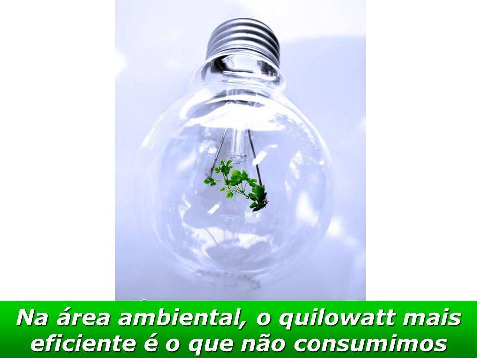 Na área ambiental, o quilowatt mais eficiente é o que não consumimos