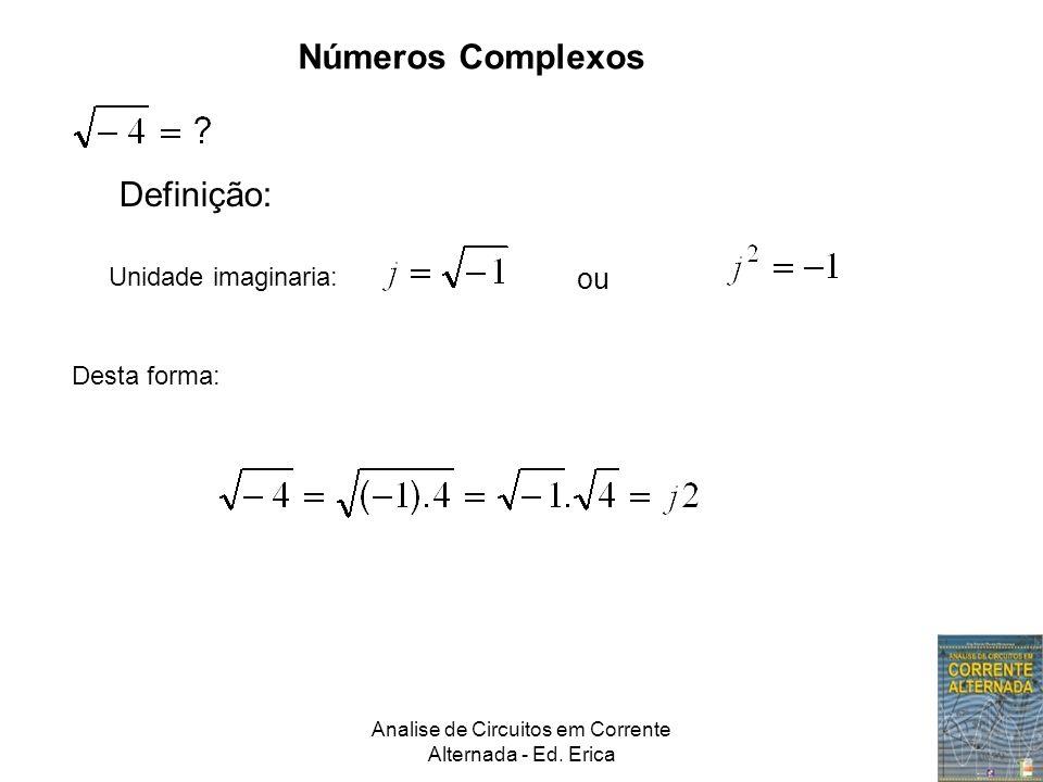 Números Complexos Unidade imaginaria: Desta forma: ou Definição: