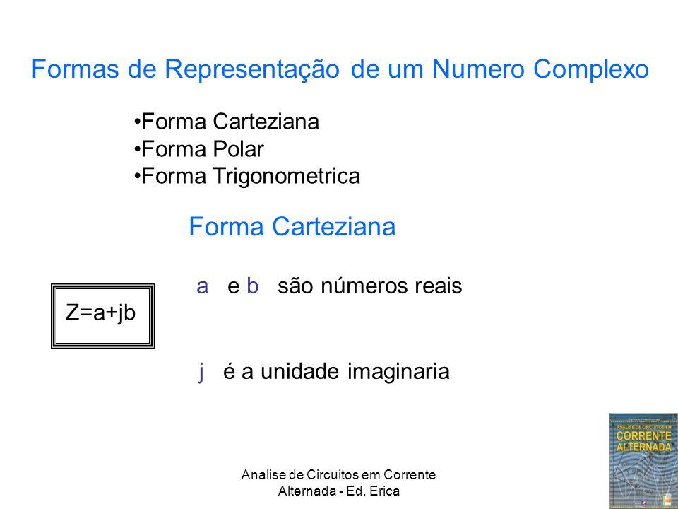 Analise de Circuitos em Corrente Alternada - Ed. Erica Formas de Representação de um Numero Complexo Forma Carteziana Forma Polar Forma Trigonometrica