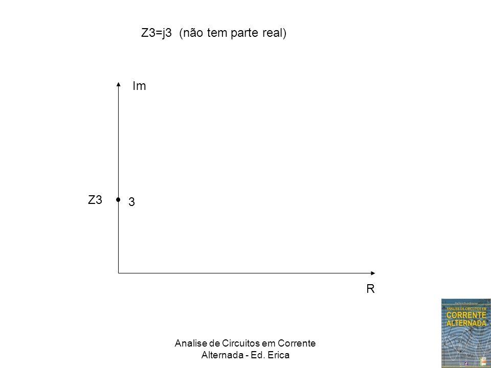 Analise de Circuitos em Corrente Alternada - Ed. Erica Im R Z3=j3 (não tem parte real) 3 Z3
