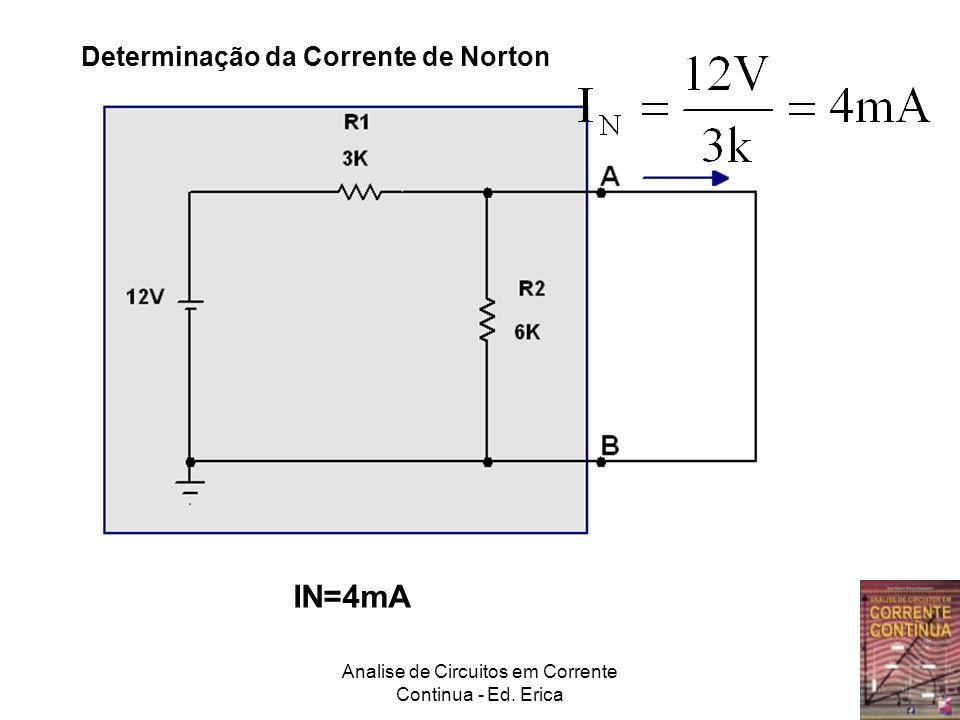 Analise de Circuitos em Corrente Continua - Ed. Erica Determinação da Corrente de Norton IN=4mA