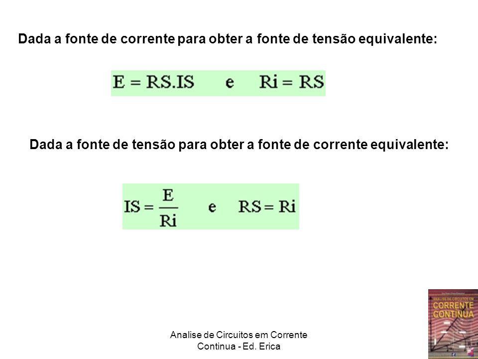 Analise de Circuitos em Corrente Continua - Ed. Erica Circuito Original Equivalente Norton