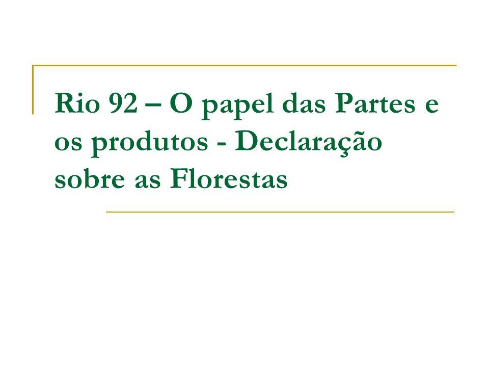 12 Agenda 21 Global (6) CAPÍTULO 15 Conservação da Diversidade Biológica (respeitar o princípio das incertezas científicas) CAPÍTULO 16 Manejo ambientalmente saudável da biotecnologia (transgênicos, medicamentos,etc).