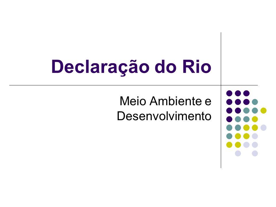 Declaração do Rio Meio Ambiente e Desenvolvimento