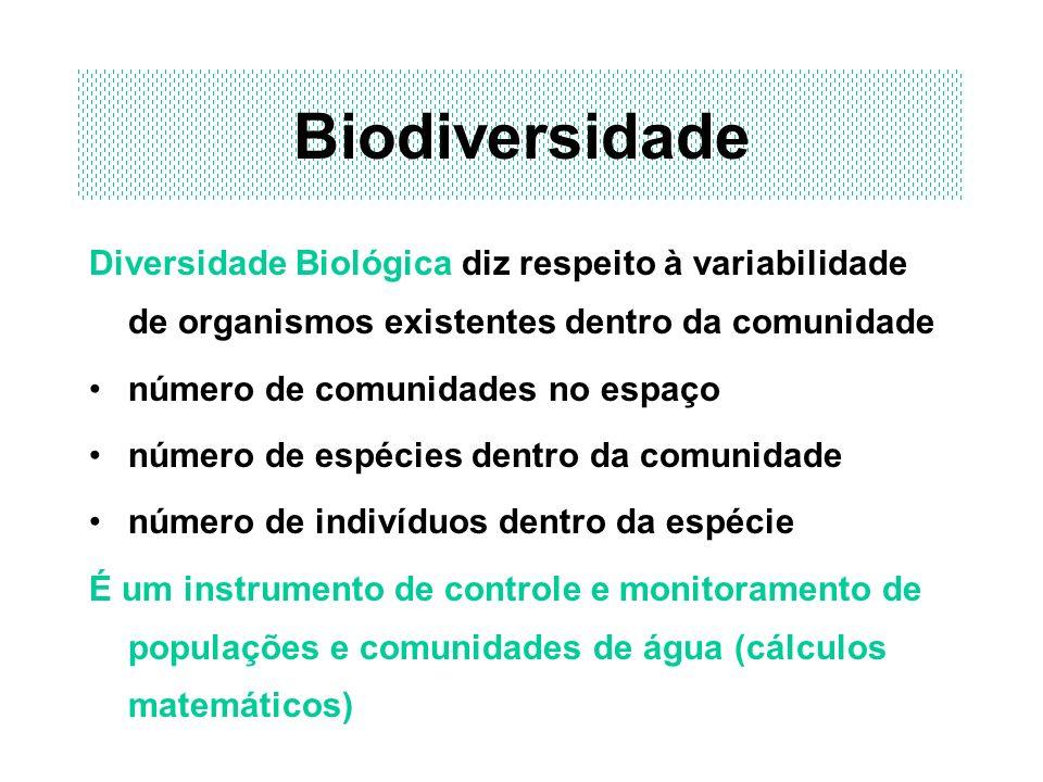 Biodiversidade Diversidade Biológica diz respeito à variabilidade de organismos existentes dentro da comunidade número de comunidades no espaço número