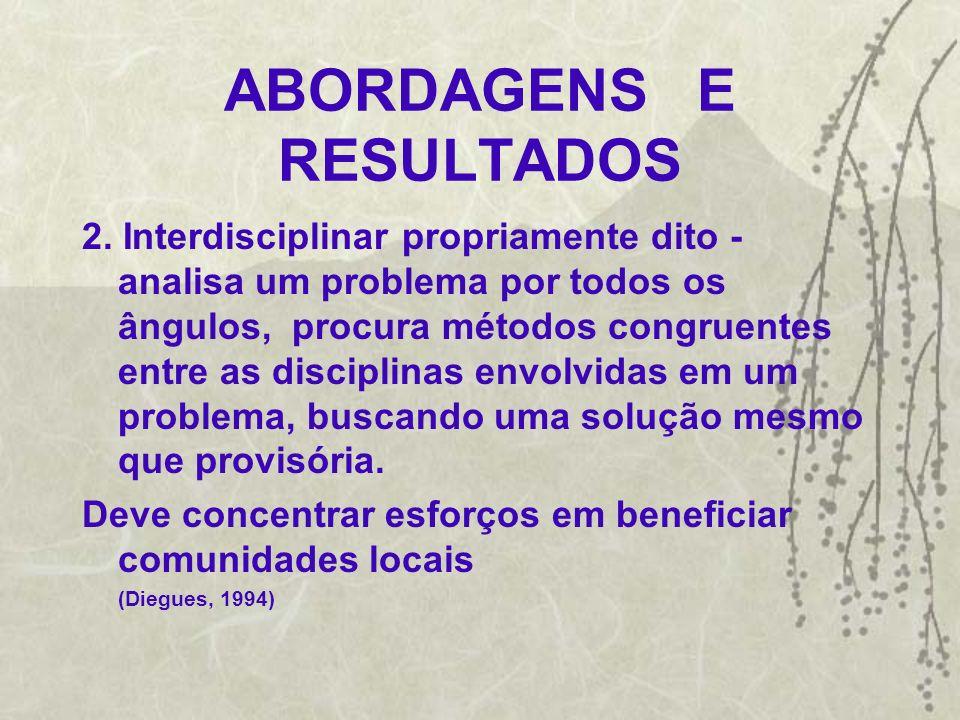 ABORDAGENS E RESULTADOS 3.