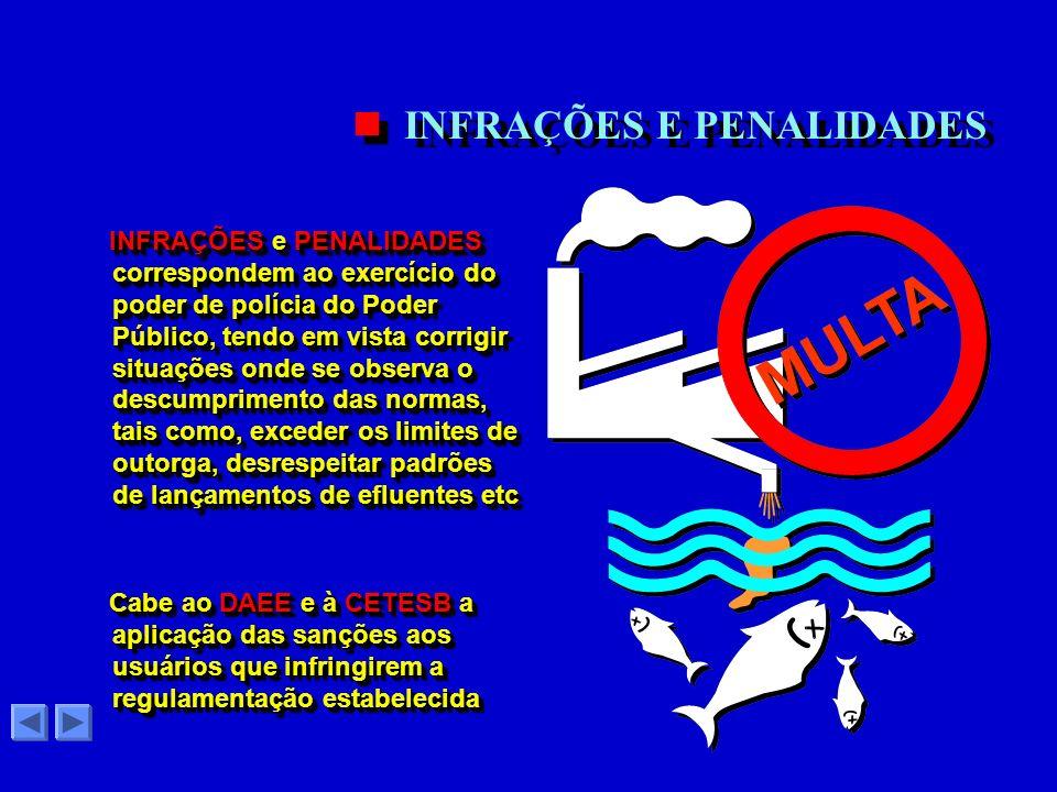 A OUTORGA de direito de uso dos recursos hídricos constitui um instrumento de controle, através do qual o Poder Público autoriza alguém a utilizar a á