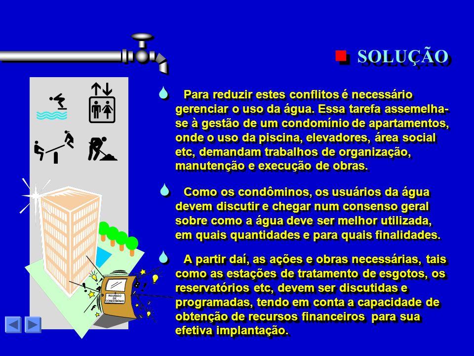 No Estado de São Paulo, os problemas relacionados com as águas são muitos, tais como: No Estado de São Paulo, os problemas relacionados com as águas s