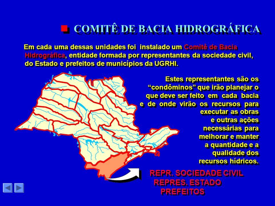 22 UGRHIs O Governo do Estado de São Paulo estabeleceu um Sistema Integrado para o Gerenciamento dos Recursos Hídricos (SIGRH) de domínio estadual. GE