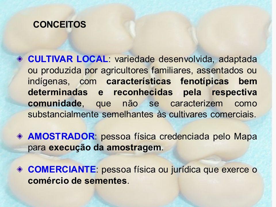 CULTIVAR LOCAL: variedade desenvolvida, adaptada ou produzida por agricultores familiares, assentados ou indígenas, com características fenotípicas be