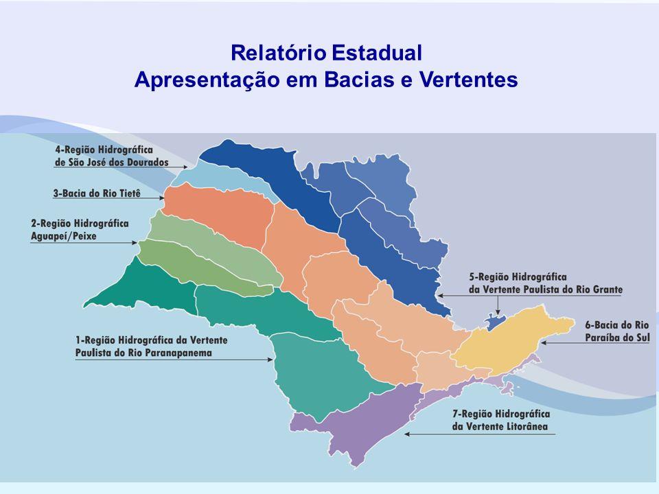 Relatório Estadual Apresentação em Bacias e Vertentes